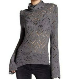 Free People gray Shoot from the Heart sweater